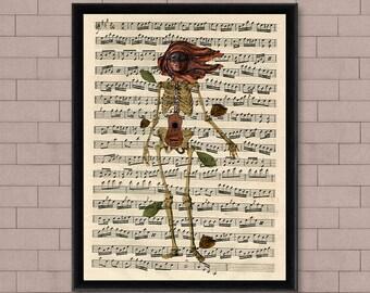 Sheet Music Wall Art sheet music art | etsy
