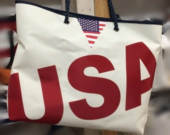 USA Recycled Sailcloth Large Shopper