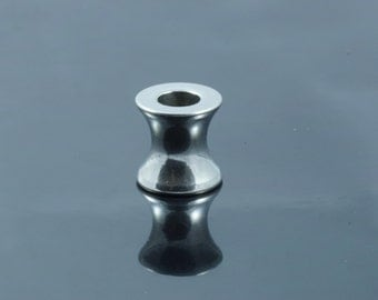 Stainless Steel Large Hole Column Beads. 8x8mm.  Hole 4mm