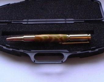 30 Caliber Bullet Cartridge 24kt Gold Twist Pen