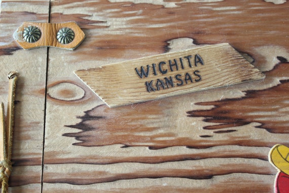 Vintage rustic wood scrapbook album wichita kansas for Craft stores wichita ks
