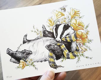 Badger (limited edition print)