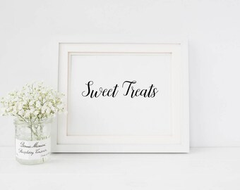 Sweet treats sign | Wedding favours sign | Sign for wedding favours | Dessert table sign | Wedding dessert table sign | Sign sweet treats S1