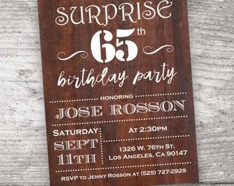 65th birthday invitations – Etsy