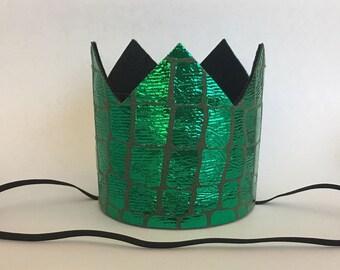 Dinosaur Mini Crown, Dinosaur Birthday Crown, Dinosaur Birthday Party Hat, Dinosaur Crocodile Alligator Birthday Hat, Dinosaur Party Decor,