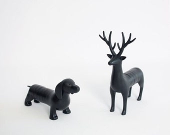 fridge magnets / set 6 pc / Office magnets / Home accessory / Reindeer /  Dachshund