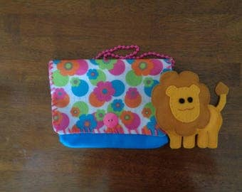 Colorful Child's Purse with Toy Lion
