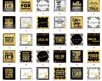 SALE - 50% OFF - 30 Social Media Images for Facebook, Instagram etc. for Online Clothing & LuLaRoe Consultants - Black and Gold Style