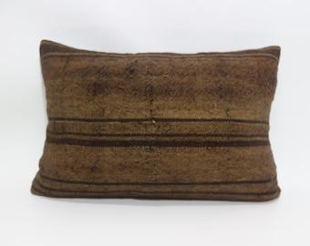 brown kilim pillow 16x24 kilim pillow one colour brown kilim pillow decorative kilim pillow sofa pillow turkish kilim pillow SP4060-267