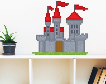 8 Bit Castle Wall Decal