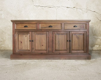 Sideboard, Buffet, Reclaimed Wood, Console Cabinet, Server, China Cabinet, Handmade, Rustic
