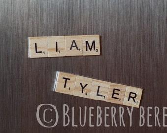 Custom Name Wooden Scrabble Magnet