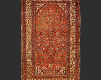 Malayer antique persian rug 5.9 x 3.6 ft / 179 x 109 cm carpet farahan sarouk malayer 6x4ft,