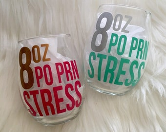 Prescription Wine Glass. Pharmacy, Medicine, Nursing, Dental Gift