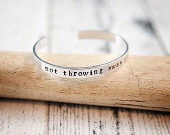 not throwing away my shot, my shot bracelet, hamilton, hamilton jewelry, hamilton quote, hamilton lyrics, musical gift, hamilton gift