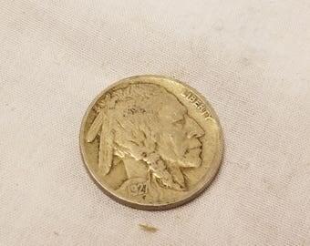 1927 Buffalo indian Nickel good condition