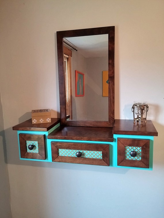 Floating Makeup Table Vanity Design 3