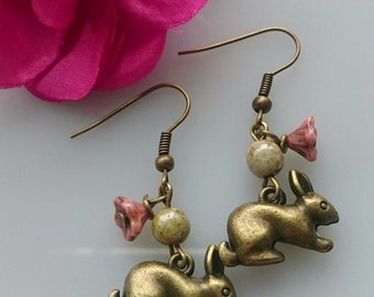 Lovely  handmade rabbit earrings