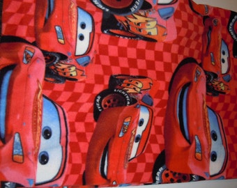 Cars Blanket - Fleece Blanket - Lightning McQueen Blanket - Lap Blanket - No Sew - Hand Tied - Fleece Tie Blanket