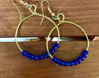 Midnight Blue Tanzanian Handmade Earrings