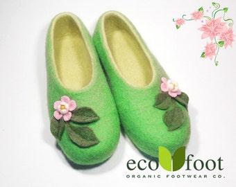 Wool slippers Women's Felted wool slippers Women's house Felt slippers Not slip to buy original slippers Handmade