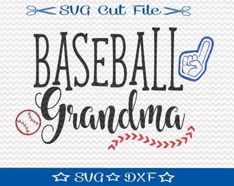 Baseball Grandma SVG File / Sports Svg / Baseball SVG Cut File / Baseball Player svg / svg for Baseball / Spring Training svg / Baseball Mom