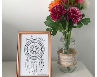 NEW! 'Sweet dreams' dream catcher quote and design