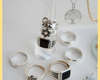 SILVER PYRAMIDS - Collection of Silver 925 & Brass Jewellery Set