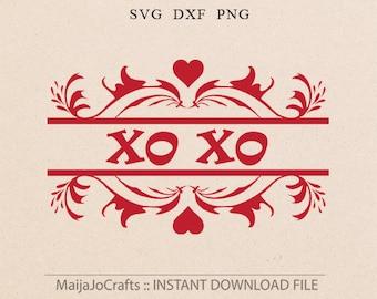 Valentine SVG Valentines svg Valentines day svg Xo Xo svg Dxf files Valentines Dxf Cricut downloads Silhouette designs Cricut designs