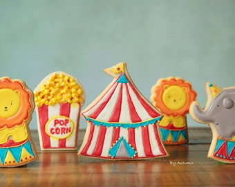 Circus Decorated Sugar Cookies