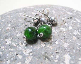 Chrome Diopside Earrings Diopside Earrings Dangle Earrings Stud Earrings Charm Earrings Diopside Jewelry 6mm Chrome Diopside Diopside Charm