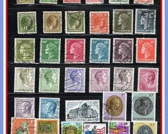 Luxembourg - 35 Postage Stamps