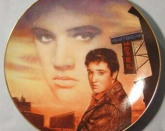 """Elvis Presley 'Hit Parade Collection' """"Heartbreak Hotel"""" Collector's Plate - NIB"""