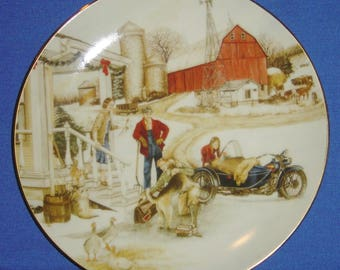 Christmas Vacation - Harley-Davidson® Christmas Collector's Plate (1993) (JVM)