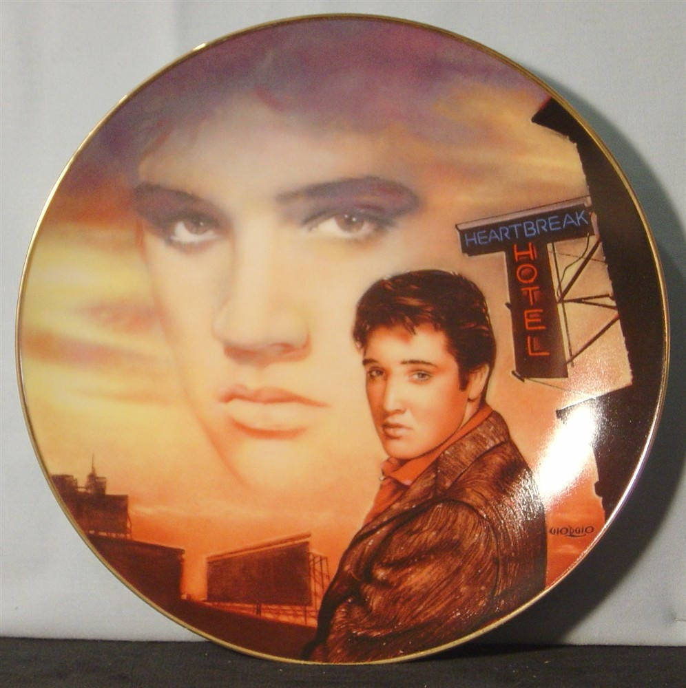 "Hotel Collection Plates: Elvis Presley 'Hit Parade Collection' ""Heartbreak Hotel"