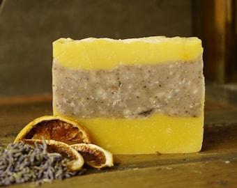 Lemon Lavender Soap | All Natural Soap, Artisan Soap, Aromatherapy Soap, Luxury Soap, Salt Bar, Essential Oils Soap, Sea Salt Soap