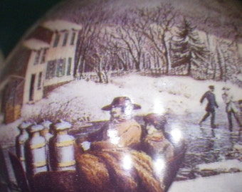 Hallmark Collectors Series Christmas Ornament Currier and Ives And American Farm Scene