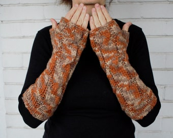 Fingerless Gloves in Many-coloured/ Arm Warmers / Fingerless Mittens