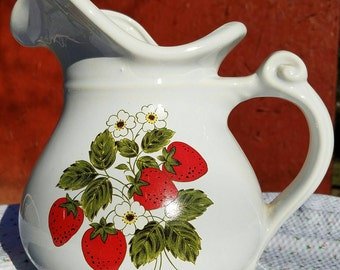 American McCoy Strawberry Pitcher