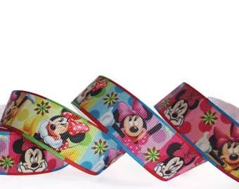 """1"""" Minnie Mouse Grosgrain Ribbon by the Yard   A71"""