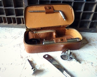 """Otoscope pouch - Full consultation ENT - Modell """"EFF"""" - material case vintage medical"""