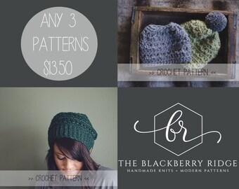 3 Pattern Discount | PLEASE READ | Crochet Pattern Bundle