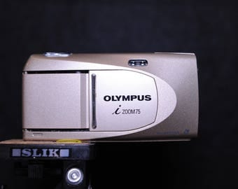 Olympus i Zoom 75 APS film Compact Camera with 28-75 mm, f4.7 Lens - APS Film Point & Shoot -