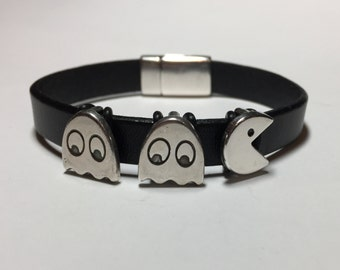 Pac-Man Leather Bracelet