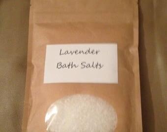 Bath Salts 8 oz Lavender or De-Stress or Foot Soak 8 oz
