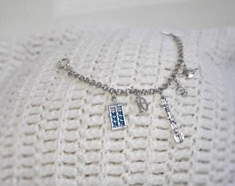 Doctor Who, Charm Bracelet, Tenth Doctor, 10, inspired charm bracelet, Gift for Her, Birthday Gift