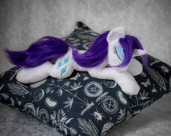Sleeping Rarity MLP Plush Custom Pony My Little pony Friendship is Magic