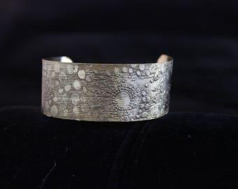 Etched Brass Cuff Bracelet (05212017-037)
