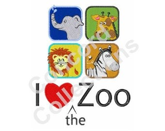 Zoo Animals Machine Embroidery Design