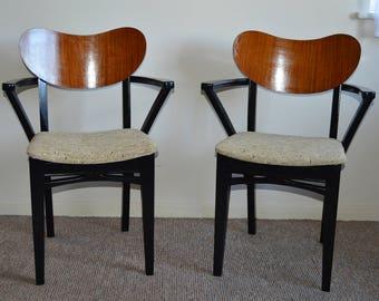pair of 1950s vintage retro danish gplan butterfly dining chairs - Vintage Wooden Dining Chairs